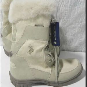 Women's 8.5 Polo Boots In Winter White